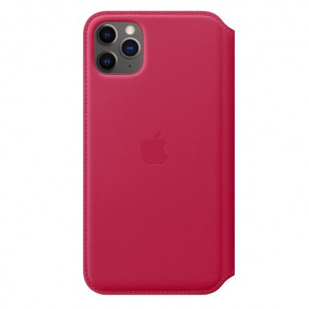 Apple iPhone 11 Pro Max Leather Folio - Raspberry (Seasonal Spring2020)