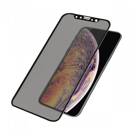 PanzerGlass Screen Protector Glass Edge-to-Edge Privacy for Apple iPhone X/Xs Black