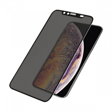 PanzerGlass Screen Protector Glass Edge-to-Edge (Case Friendly with Camera slider) Privacy for Apple iPhone X/Xs Black