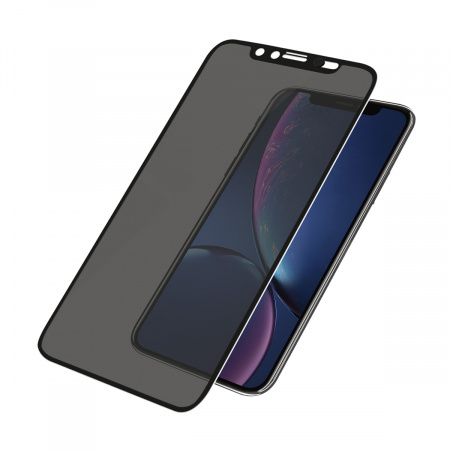 PanzerGlass Screen Protector Glass Edge-to-Edge (Case Friendly with Camera slider) Privacy for Apple iPhone Xr Black