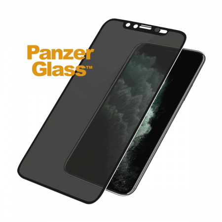 PanzerGlass Edge-to-Edge Privacy Apple iPhone Xs Max/11 Pro Max Black w CamSlider
