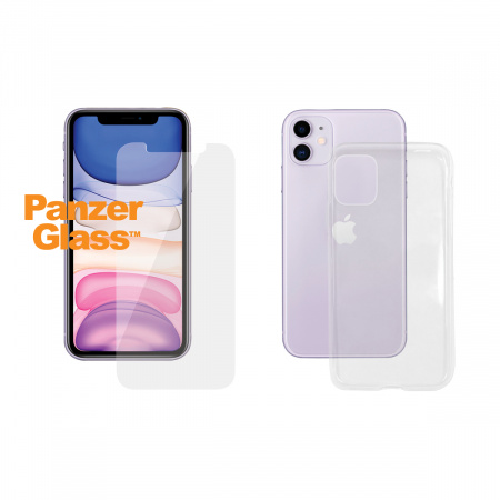 PanzerGlass Standard Bundle Apple iPhone 11 (Standard fit + Clear TPU Case)
