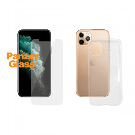 PanzerGlass Standard Bundle Apple iPhone 11 Pro Max (Standard fit + Clear TPU Case)