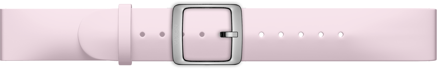 Nokia Accessory Slicone Band (18mm) for Steel and Steel HR (36mm) - Light Pink