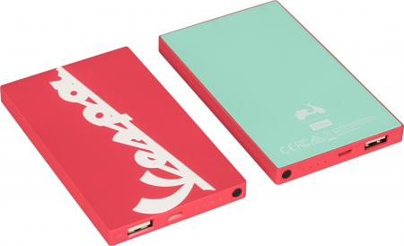 Tribe Vespa 4000mAh Power Bank - Berry