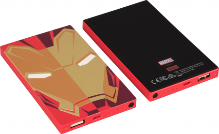 Tribe Marvel Iron Man 4000mAh Power Bank - Red