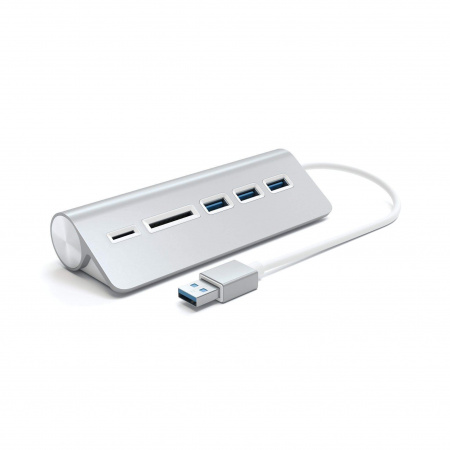 Satechi Aluminium TYPE-C USB Hub (3x USB 3.0,MicroSD) - Silver