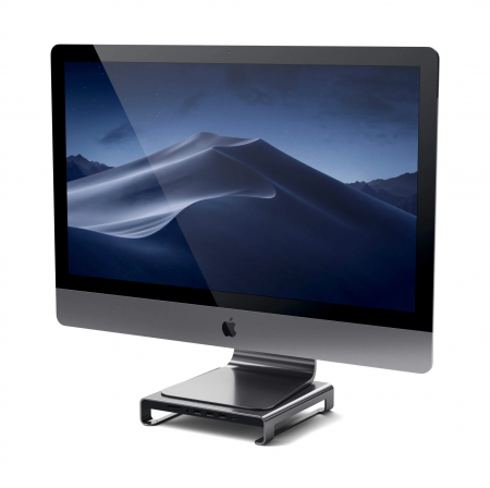 Satechi Aluminum Monitor Stand Hub for iMac - Space Gray