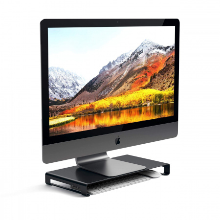 Satechi Slim Aluminum Monitor Stand - Black