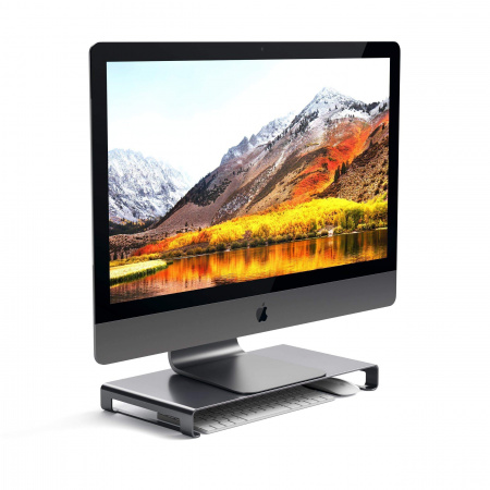 Satechi Slim Aluminum Monitor Stand - Space Gray