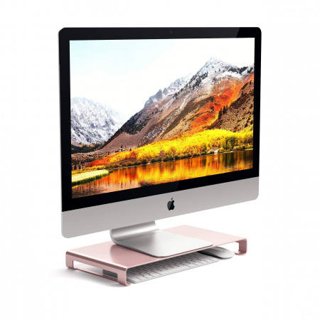 Satechi Slim Aluminum Monitor Stand - Rose gold