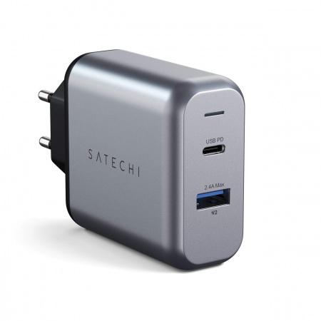 Satechi 30W Dual-Port Wall Charger - EU - Space Gray