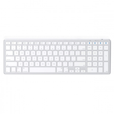 Satechi Aluminum Slim Bluetooth Wireless Keyboard for Mac - US - Silver