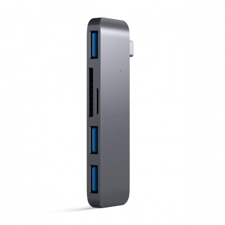 Satechi Aluminium TYPE-C USB COMBO Hub (3x USB 3.0,MicroSD) - Space Grey