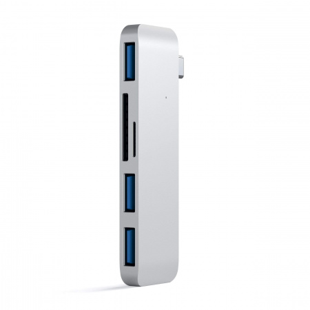 Satechi Aluminium TYPE-C USB COMBO Hub (3x USB 3.0,MicroSD) - Silver