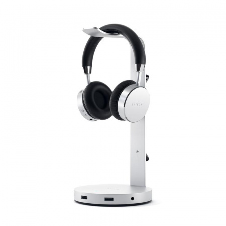 Satechi Aluminum Headphone Stand Hub - Silver