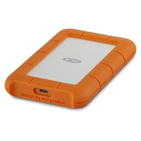 Lacie 1TB Rugged USB-C - Silver/Orange