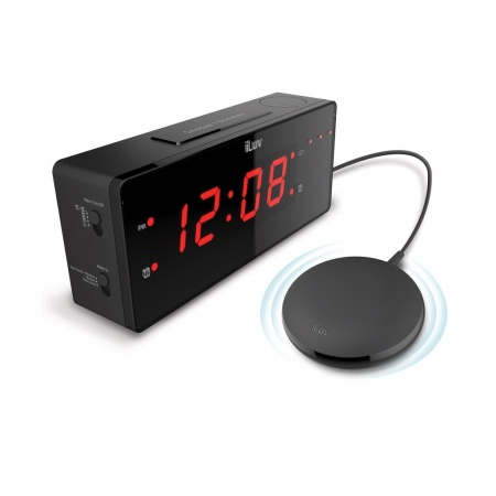 iLuv TimeShaker Wow Wired Bed-Shaker Alarm Clock - Black