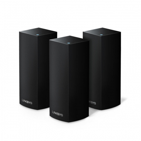 Linksys Velop Intelligent Mesh WiFi System, Tri-Band, 3-Pack Black (AC6600)