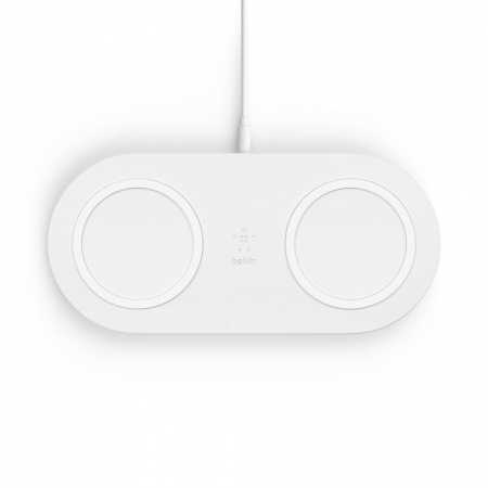 Belkin BOOST_CHARGEª Dual Wireless Charging Pads - White